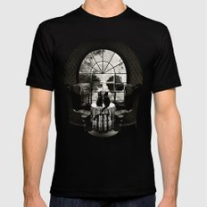 Room Skull B&W Mens Fitted Tee Black LARGE