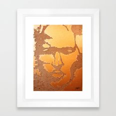 Man Recycled  Framed Art Print