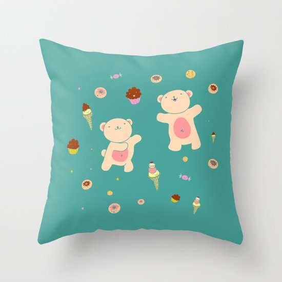 Sweet Bears Throw Pillow