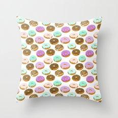 Donuts - Junk Food Treat… Throw Pillow