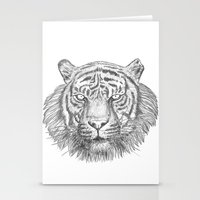 The Tiger's head Stationery Cards