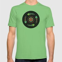 Circles of Gators Mens Fitted Tee Grass SMALL