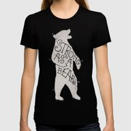 Strong As A Bear Womens Fitted Tee Black SMALL