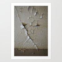 Crack And Peel Art Print