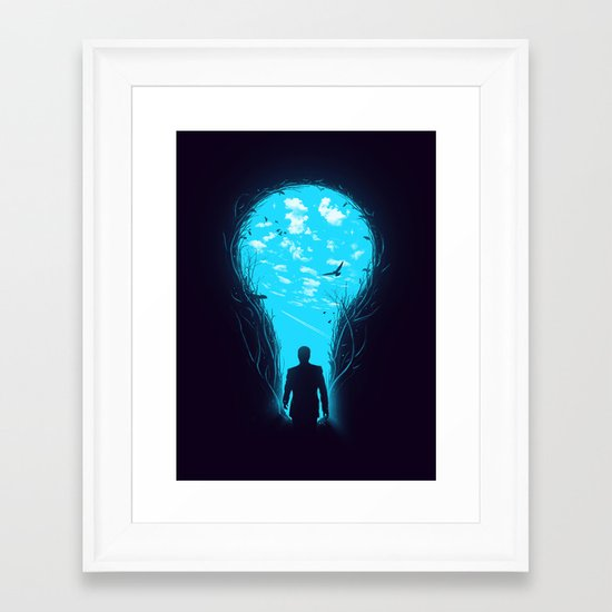 Bright Side Framed Art Print