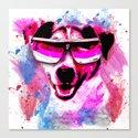 Jack Russell Grunge Watercolour Cool Dog Wall Art Canvas Print