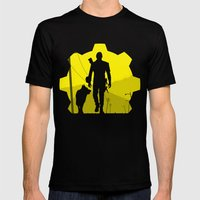 Vault 111 life Mens Fitted Tee Black SMALL
