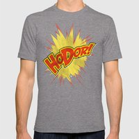 Hodor!  Mens Fitted Tee Tri-Grey SMALL
