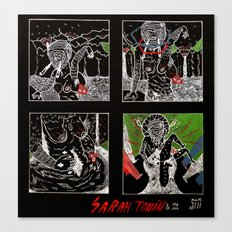 SARAH TONIN AND THE ITCH Canvas Print