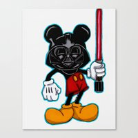 Darth Mouse Canvas Print