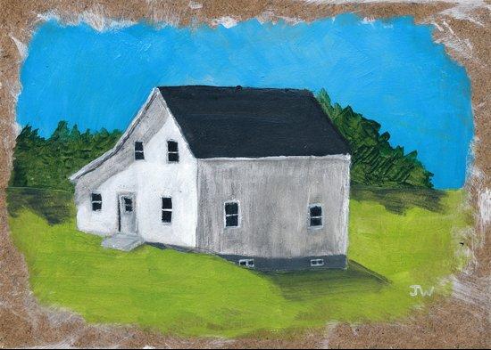 White Farmhouse. Art Print