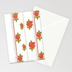 The roses in the garden.  Stationery Cards