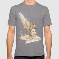 Animal princess Mens Fitted Tee Tri-Grey SMALL