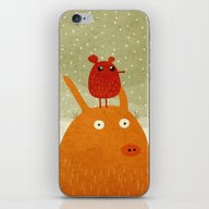 A Pig And A Rat In The S… iPhone & iPod Skin