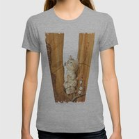 Kittens Up A Tree Womens Fitted Tee Athletic Grey SMALL