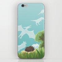 Dinosaur Clouds iPhone & iPod Skin