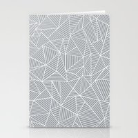 Abstract Lines 2 White O… Stationery Cards
