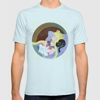 Sleeping Sailor Mens Fitted Tee Light Blue SMALL