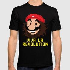 viva la revolution Mens Fitted Tee Black SMALL