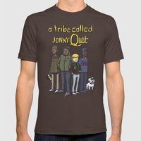 A Tribe Called Jonny Quest Mens Fitted Tee Brown SMALL