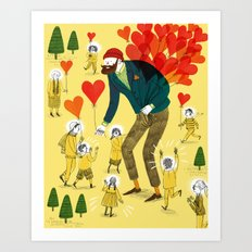 Love distributor Art Print