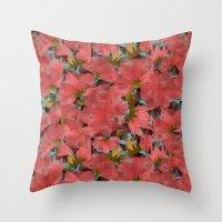 Translucent Floral Throw Pillow