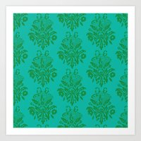 kelly green lace Art Print