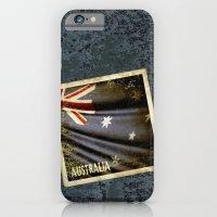 Grunge Sticker Of Austra… iPhone 6 Slim Case