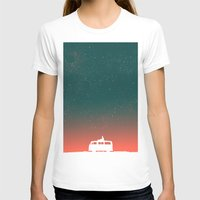 vw T-shirts featuring Quiet Night - starry sky by Picomodi