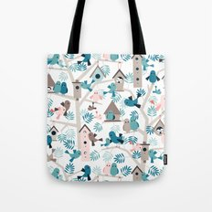 Bird family tree Tote Bag