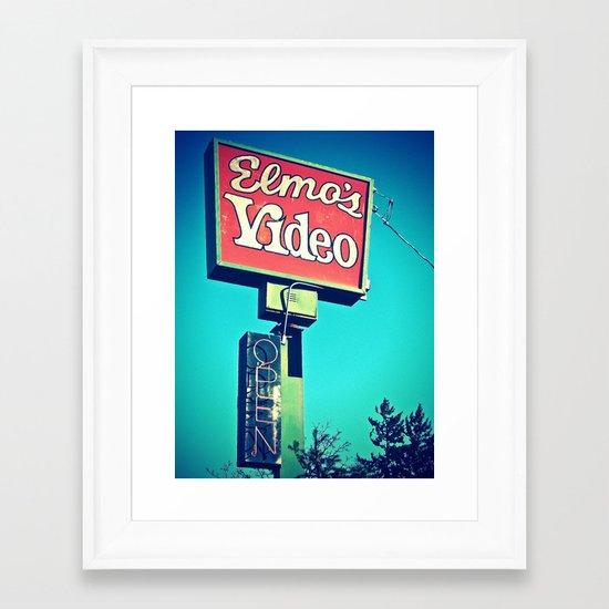 Elmo's Video Framed Art Print