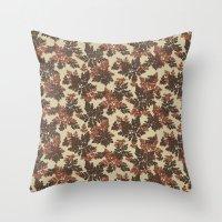 Raccoon Lake - Red Throw Pillow