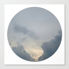 Cloudy Moon Canvas Print