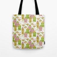 Bird Village Tote Bag