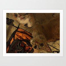 Kitty Hello Art Print
