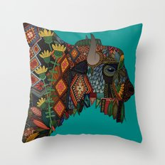 bison teal Throw Pillow