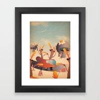wurstel machine Framed Art Print