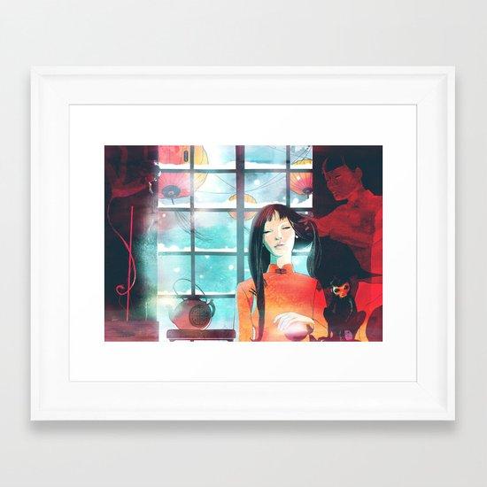 China teatime Framed Art Print