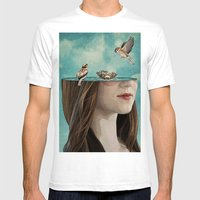 bathers Mens Fitted Tee White SMALL