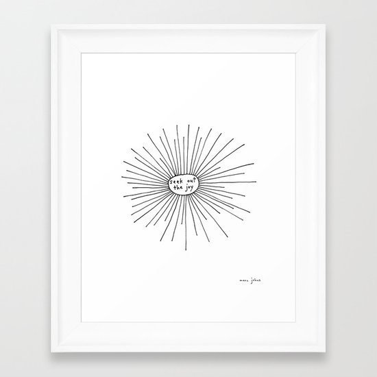 seek out the joy Framed Art Print