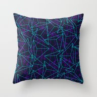Abstract Geometric 3D Tr… Throw Pillow