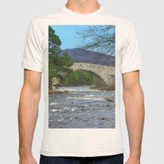 Bridge of Dee, Brig O Dee, River Dee, Balmoral, Scotland Mens Fitted Tee Natural SMALL