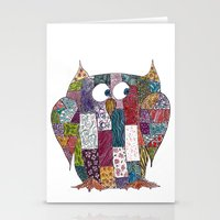Logcabin Owl Stationery Cards