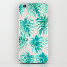 Paradise Palms Blush iPhone & iPod Skin