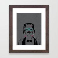 Hipsterstein /gray Framed Art Print