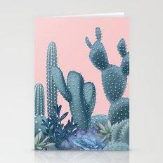 Milagritos Cacti on Rose Quartz Background Stationery Cards