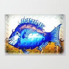 Blue Fin Canvas Print