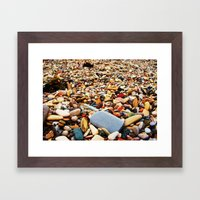 Pebbles Beach Framed Art Print