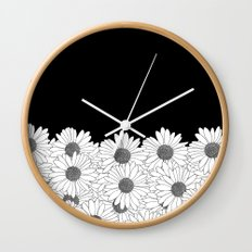 Daisy Boarder Wall Clock