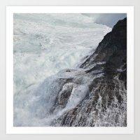 Waves In Kauai Art Print